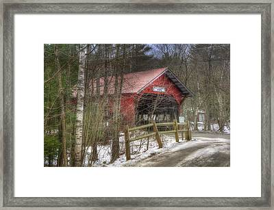 Vermont Covered Bridge - Stowe Vermont Framed Print by Joann Vitali