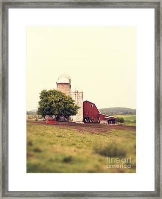 Vermont Family Farm Framed Print by Edward Fielding
