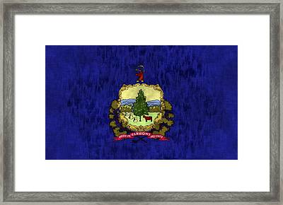Vermont Flag Framed Print by World Art Prints And Designs