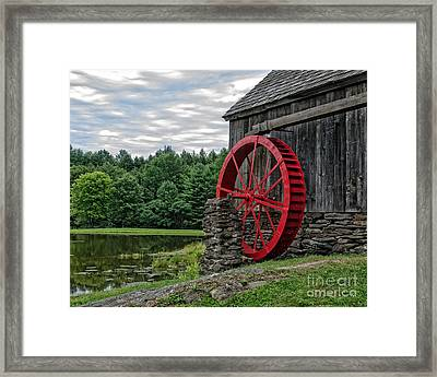 Vermont Grist Mill Framed Print by Edward Fielding