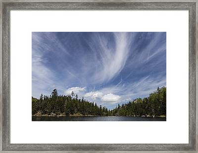 Vermont Landscape Appalachian Gap Pond Clouds Sky Framed Print by Andy Gimino