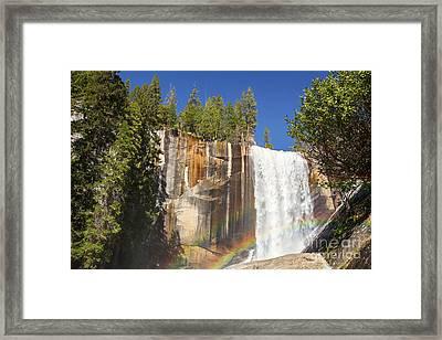 Vernal Falls Rainbow Framed Print by Jane Rix