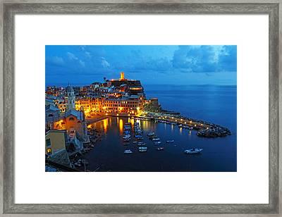 Vernazza Evening Framed Print by Alex Sukonkin