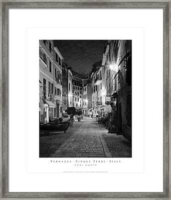 Vernazza Italy Framed Print by Carl Amoth