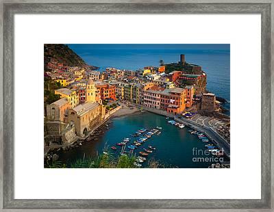 Vernazza Pomeriggio Framed Print by Inge Johnsson