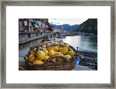 Vernazza Still Life Framed Print by George Oze
