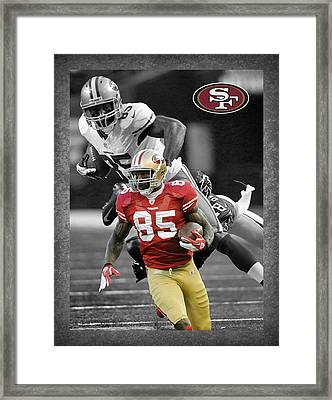 Vernon Davis 49ers Framed Print by Joe Hamilton