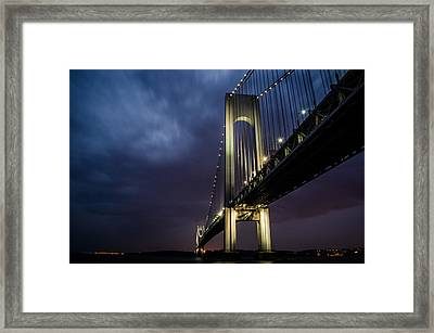 Verrazano-narrows Bridge Framed Print by Johnny Lam