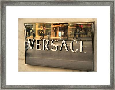 Versace Framed Print by Dan Sproul