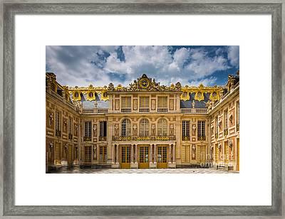 Versailles Courtyard Framed Print by Inge Johnsson