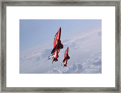 Vertical Arrows Framed Print by J Biggadike