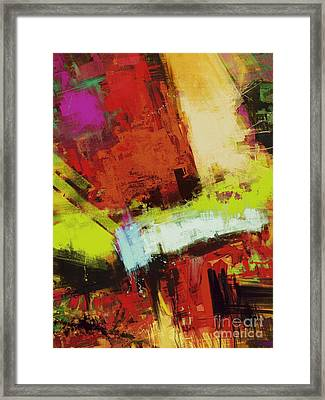 Vertical Climb Framed Print by Keith Mills