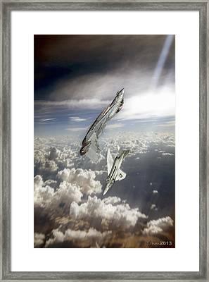 Vertical Joust Framed Print by Dorian Dogaru