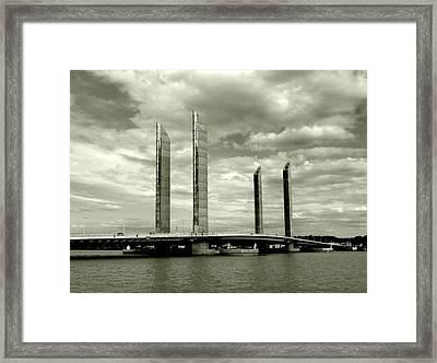 Vertical Lift Bridge Framed Print by Bishopston Fine Art