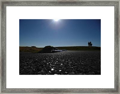 Very Hard Tarmac - Boeing 787 Framed Print by Marcello Cicchini