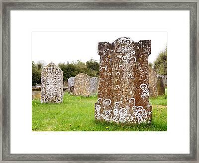 Very Old Headstone Framed Print by Jim Hughes