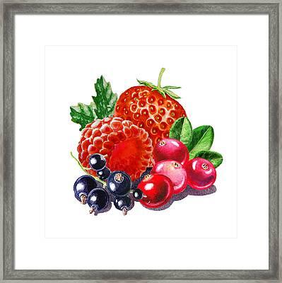 Very Very Berry Framed Print by Irina Sztukowski