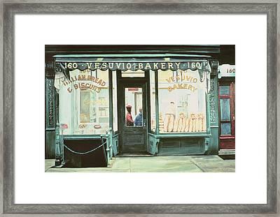 Vesuvio Bakery Framed Print by Anthony Butera