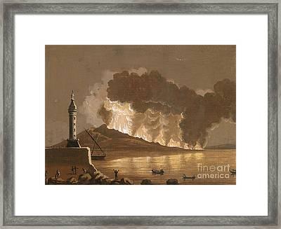 Vesuvius Erupting, June 1794 Framed Print by British Library