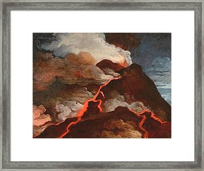 Vesuvius In Eruption, 1772 Framed Print by Anicet-Charles Lemonnier
