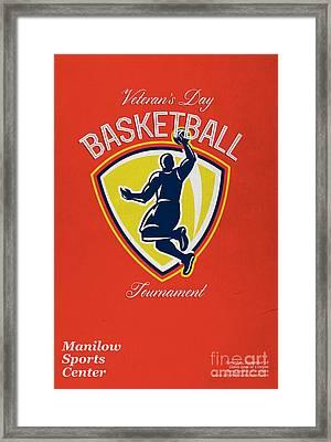 Veteran's Day Basketball Tournament Poster Framed Print by Aloysius Patrimonio