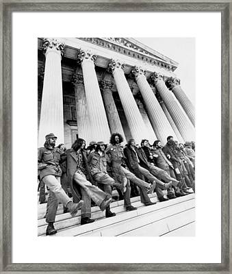 Vets Protest War Framed Print by Underwood Archives