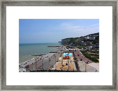 Veules Les Roses Normandy France Framed Print by Aidan Moran