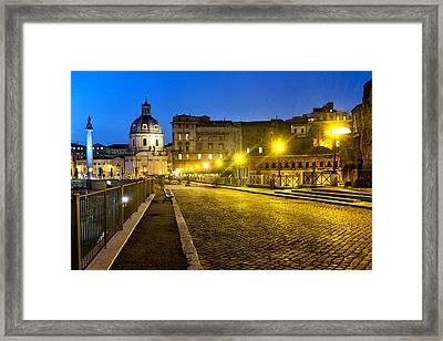 Via Alessandrina Framed Print by Fabrizio Troiani