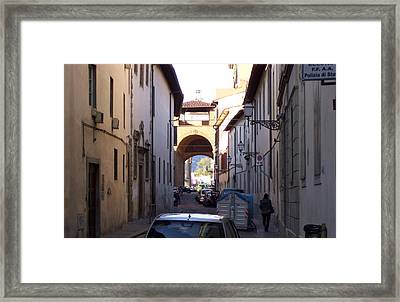 Via San Gallo In Florence Framed Print by Terry Cobb