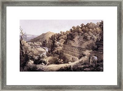 Viaduct On Cheat River, From Album Framed Print by Edward Beyer