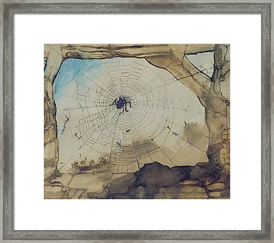 Vianden Through A Spider's Web Framed Print by Victor Hugo