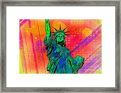 Vibrant Liberty Framed Print by Az Jackson