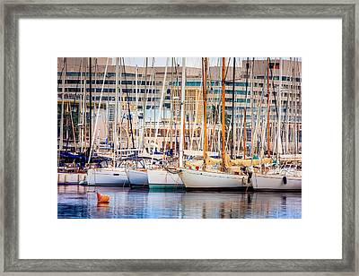 Barcelona Port Framed Print by Pati Photography