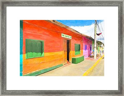 Vibrant Tropical Colors Of Nicaragua Framed Print by Mark E Tisdale
