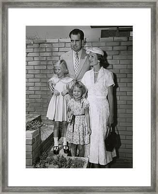 Vice President Richard Nixon Framed Print by Everett