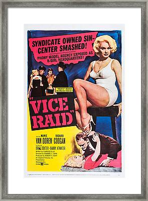 Vice Raid, Us Poster Art, Top Right Framed Print by Everett
