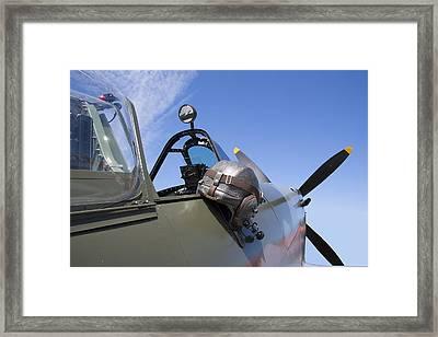 Vickers Spitfire Framed Print by Daniel Hagerman