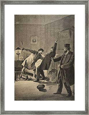 Victim Of Duty, Illustration From Le Framed Print by French School