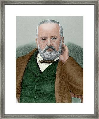 Victor Hugo (1802-1885 Framed Print by Prisma Archivo