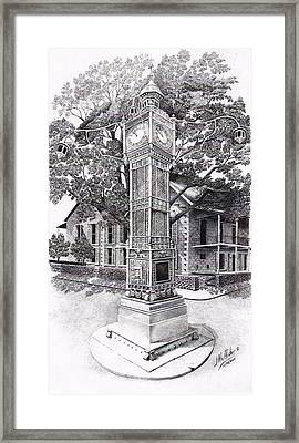 Victoria Clock Tower Framed Print by Jimmy McAlister