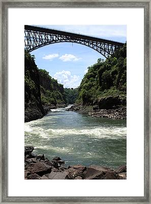 Victoria Falls Bridge - Zambia Framed Print by Aidan Moran