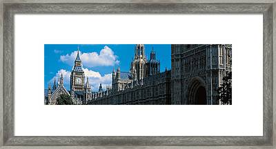 Victoria Tower & Big Ben London England Framed Print by Panoramic Images