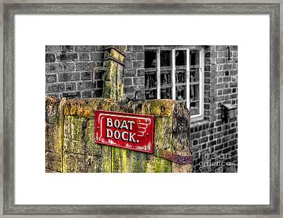 Victorian Boat Dock Sign Framed Print by Adrian Evans