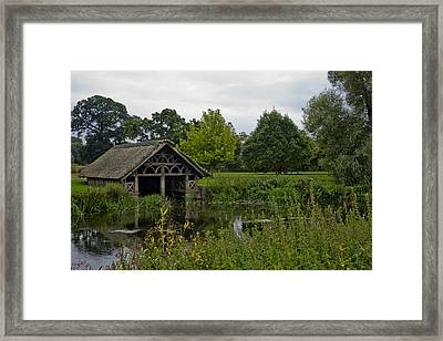Victorian Boat House Framed Print by Chris Whittle