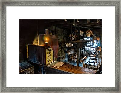 Victorian Candle Factory Framed Print by Adrian Evans