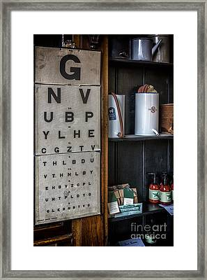 Victorian Eye Chart Framed Print by Adrian Evans