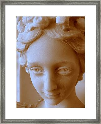 Victorian Face Framed Print by Jeff Lowe