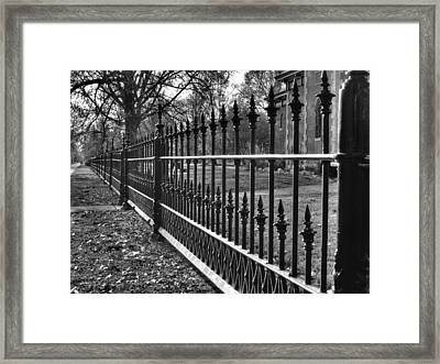 Victorian Fence Framed Print by Jane Linders