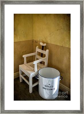 Victorian Hospital Chair Framed Print by Adrian Evans