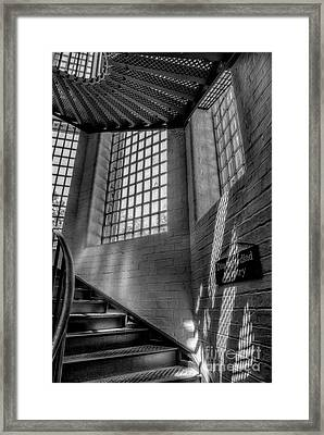 Victorian Jail Staircase V2 Framed Print by Adrian Evans
